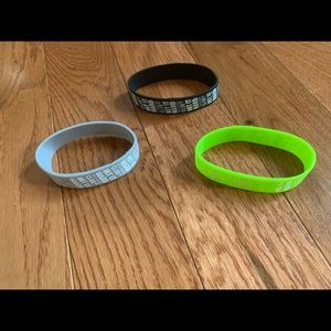 3 pack Title boxing silicone bracelets